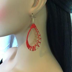 Silk Wire Wrapped Hoop Earrings